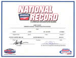 John Clegg's National Record Cert